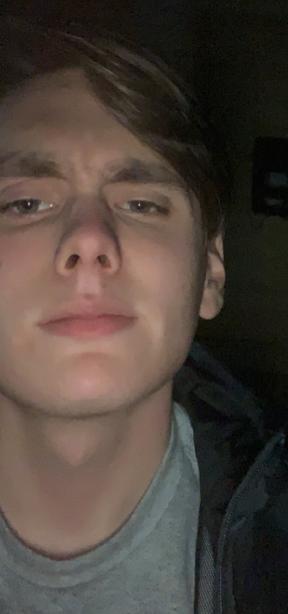 Closeup of Hood's face
