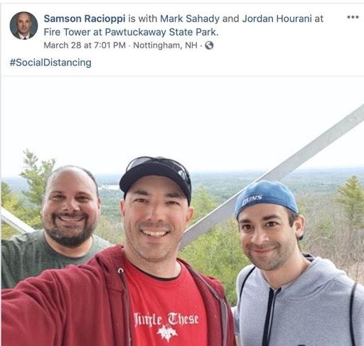 Racioppi with Mark Sahady and Jordan Hourani